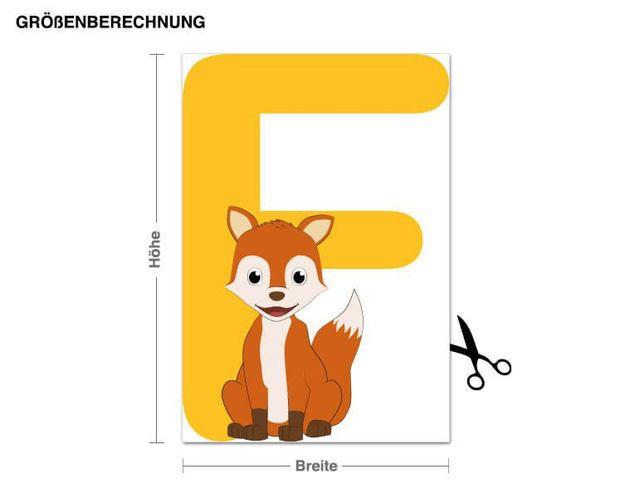 Wandsticker Kinder ABC - Fuchs