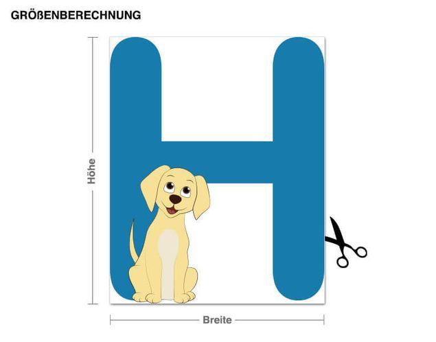 Wandsticker Kinder ABC - Hund