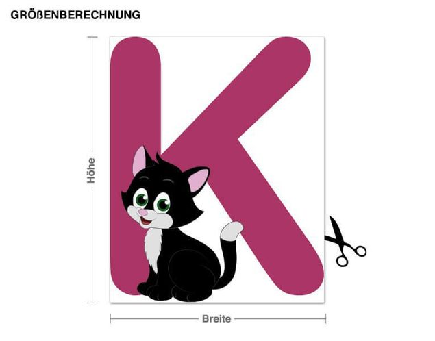 Wandsticker Kinder ABC - Katze