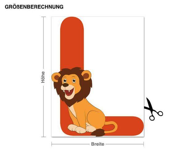 Wandsticker Kinder ABC - Löwe