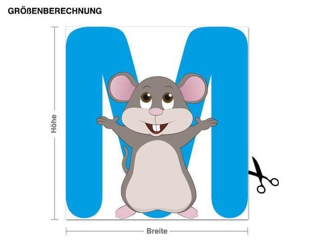 Wandsticker Kinder ABC - Maus