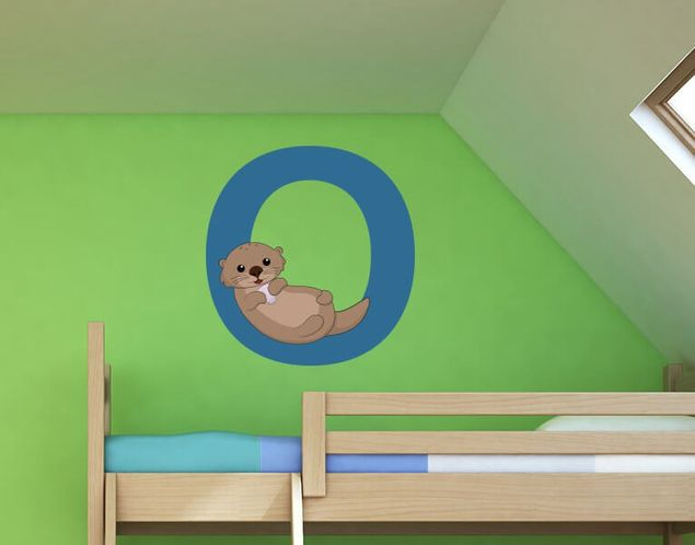 Wandsticker Kinder ABC - Otter