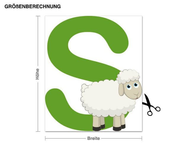Wandsticker Kinder ABC - Schaf