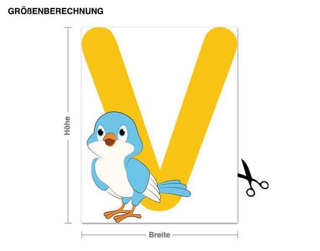 Wandsticker Kinder ABC - Vogel