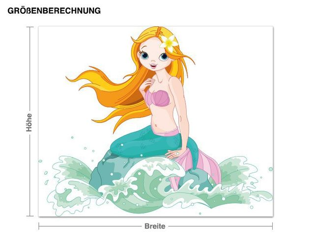 Wandsticker Kleine Meerjungfrau