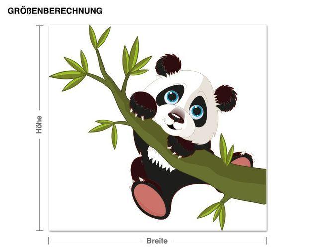 Wandsticker kleiner Panda