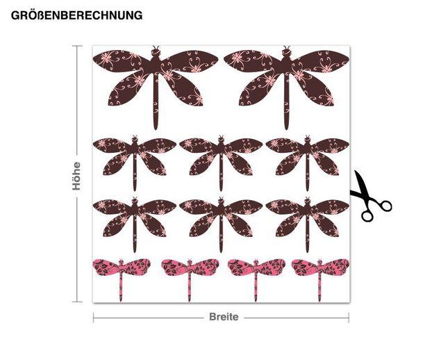 Wandsticker Libellen-Set