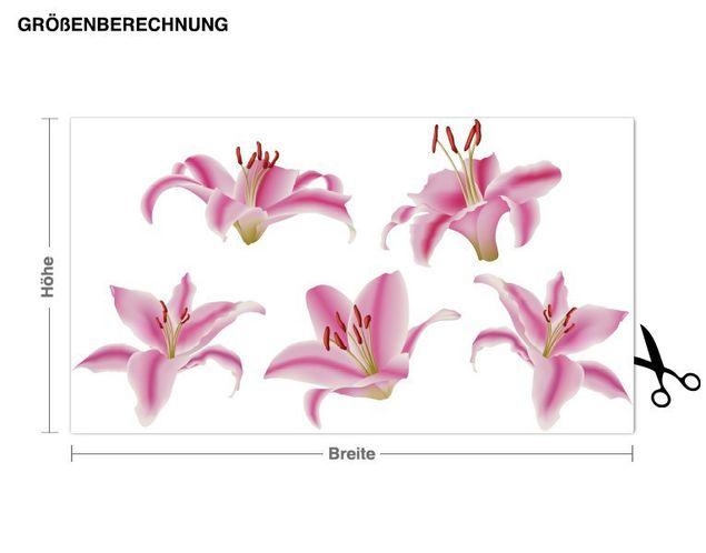 Wandsticker Lilien Blüten