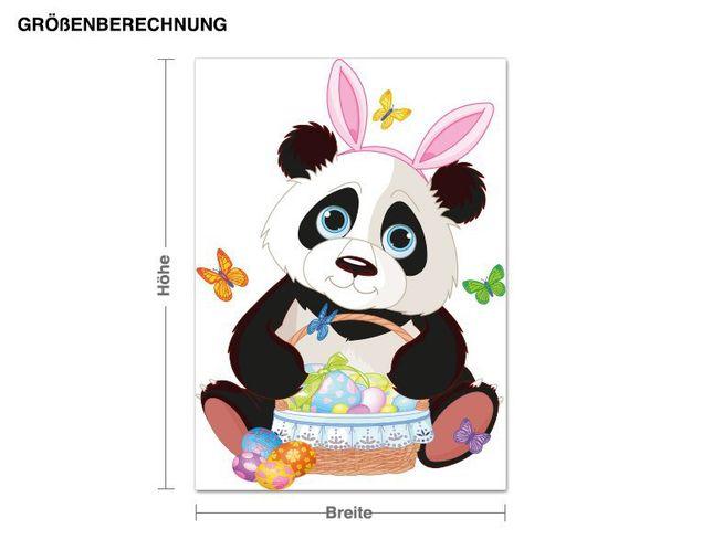 Wandsticker Pandabär mit Hasenohren