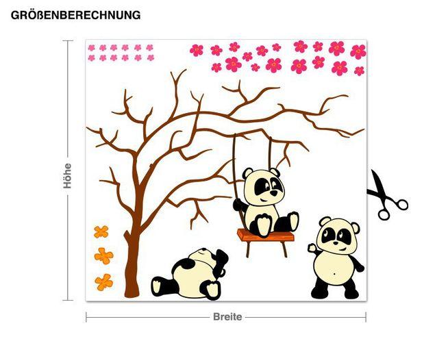 Wandsticker Pandafreunde