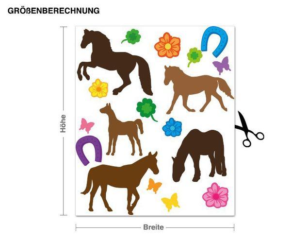 Wandsticker Pferde Set