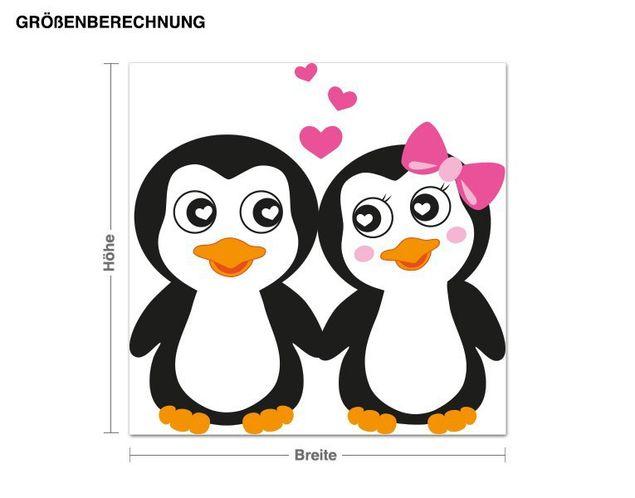 Wandsticker Pinguine halten Händchen