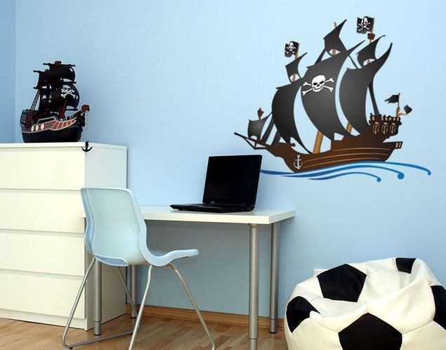 Wandsticker Piratenschiff
