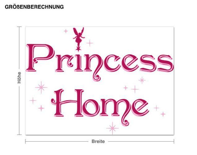 Wandsticker Princess Home