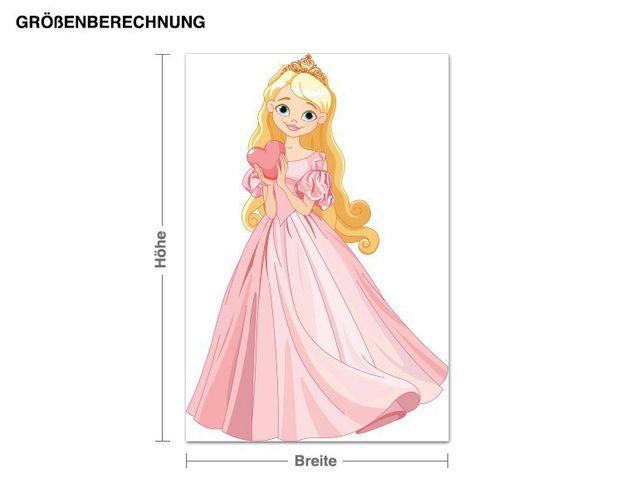 Wandsticker Prinzessin mit Herz