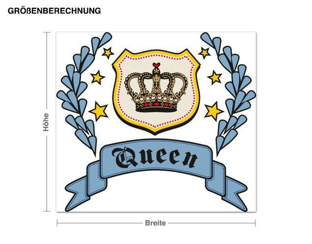 Wandsticker Queen Krone