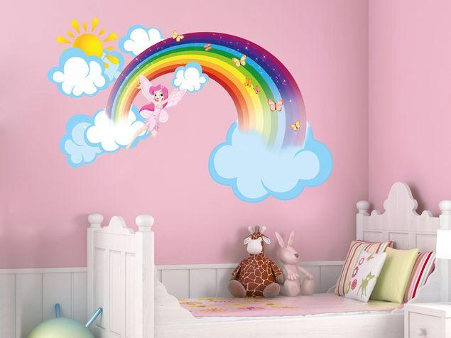 Wandsticker Regenbogen Elfe