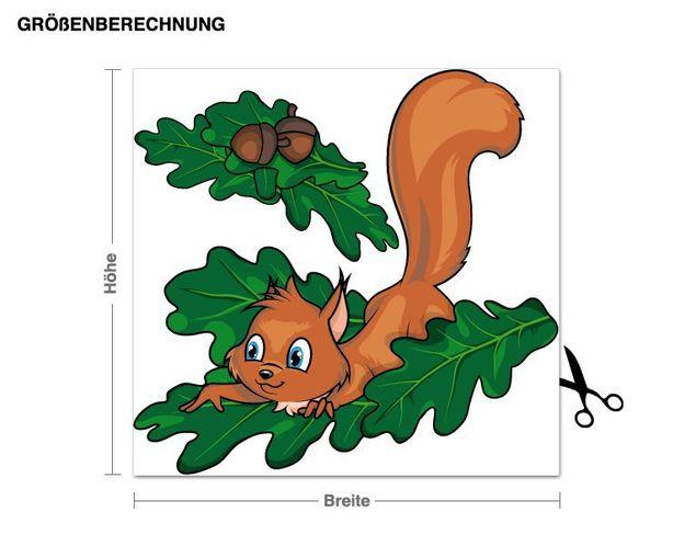 Wandsticker Sammelndes Eichhörnchen
