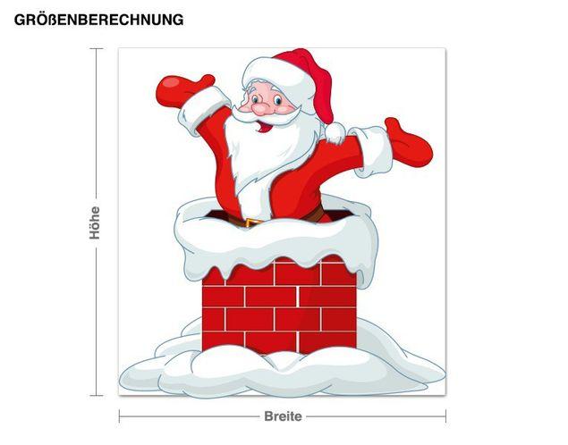 Wandsticker Santa Claus