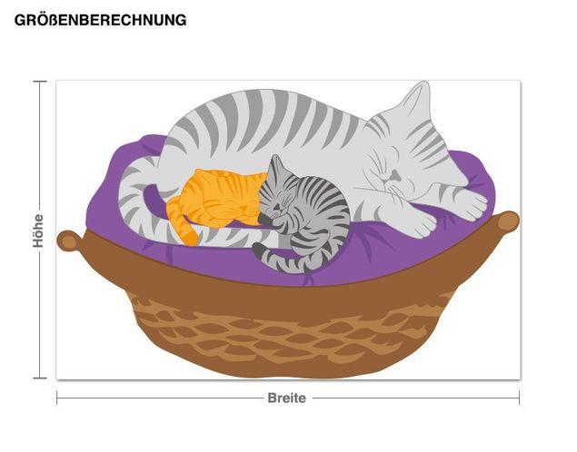 Wandsticker Schlafende Katzen