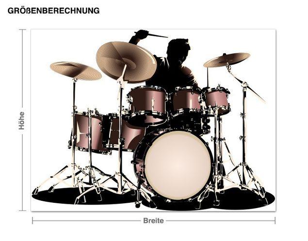 Wandsticker Schlagzeuger