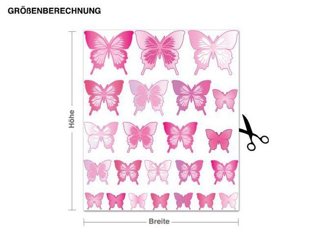 Wandsticker Schmetterlingsset