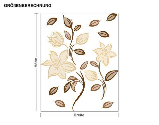 Wandsticker Schwungvolle Blüten
