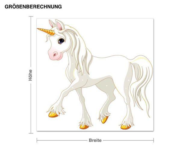 Wandsticker Snowflake Unicorn