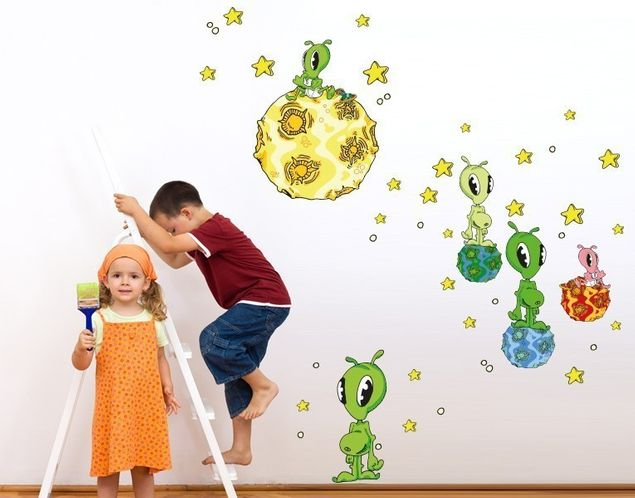 Wandsticker Space Party