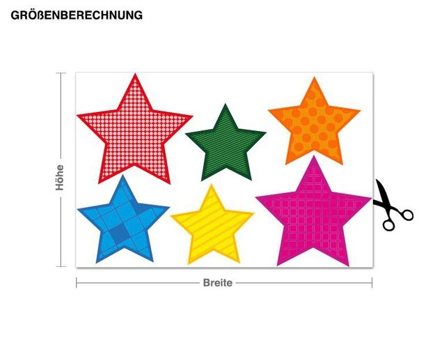 Wandsticker Sternenmuster