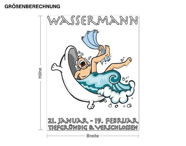 Wandsticker Sternzeichen Wassermann