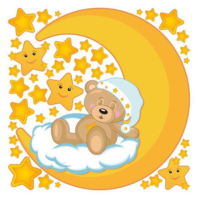 Wandsticker Teddys Sternenhimmel