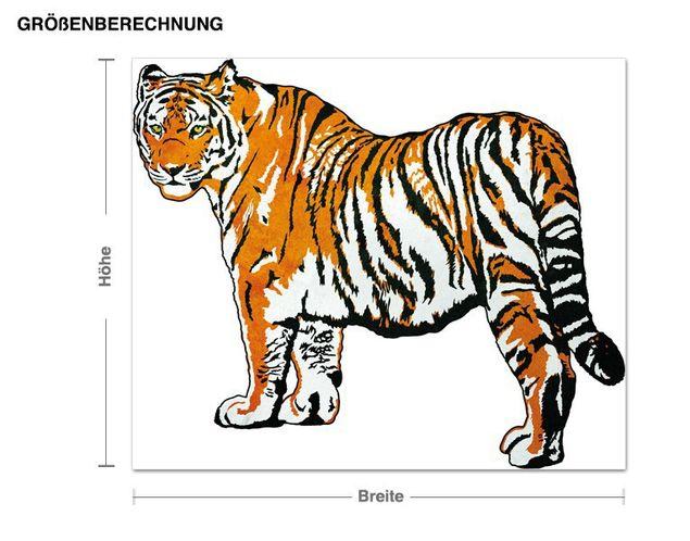 Wandsticker Tiger