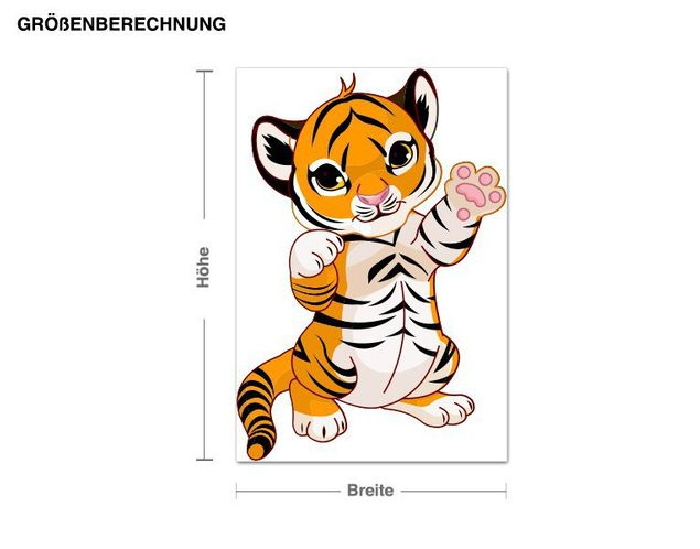 Wandsticker Tigerbaby