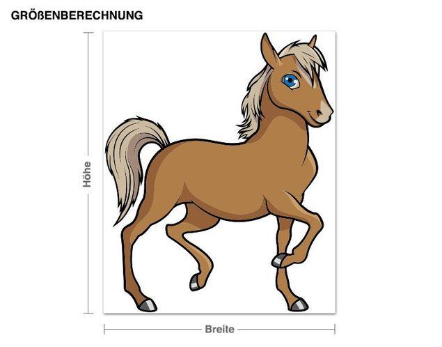 Wandsticker Trabendes Pferd