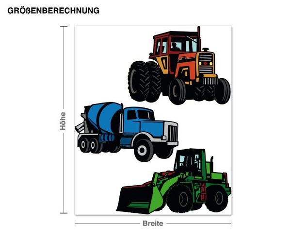 Wandsticker Traktoren