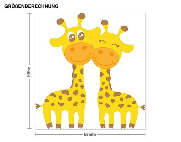 Wandsticker Verliebte Giraffen