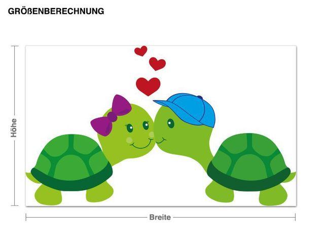 Wandsticker Verliebte Schildkröten