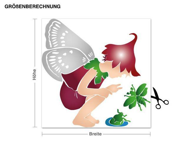 Wandsticker Waldelfe mit Käfern