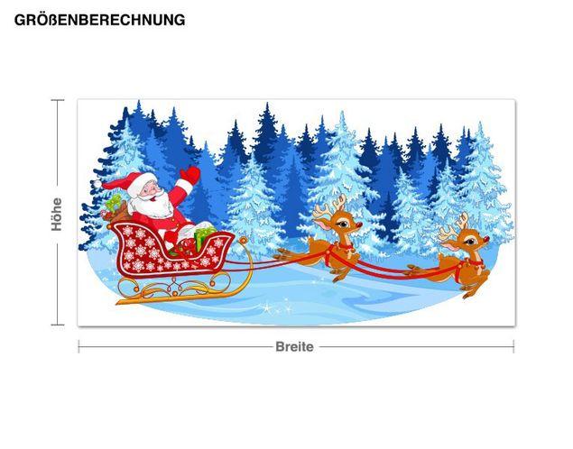 Wandsticker Weihnachtslandschaft