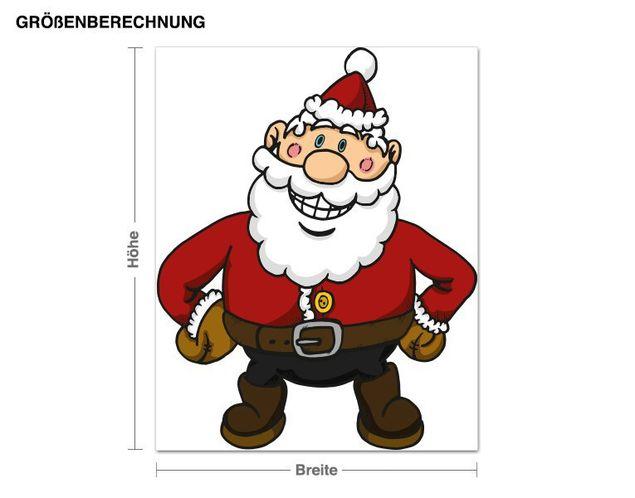 Wandsticker Weihnachtsmann