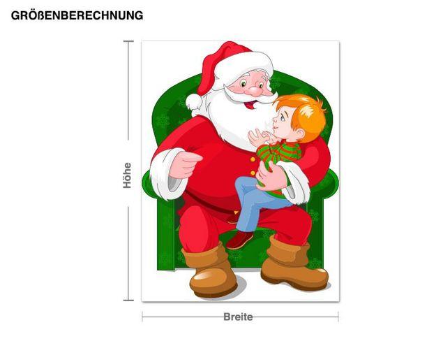 Wandsticker Weihnachtsmann Zeit