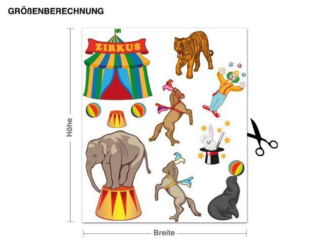Wandsticker Zirkus-Set