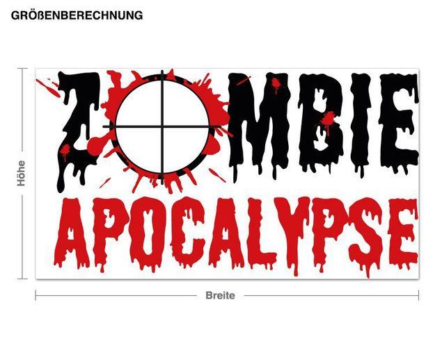 Wandsticker Zombie Apcalypse