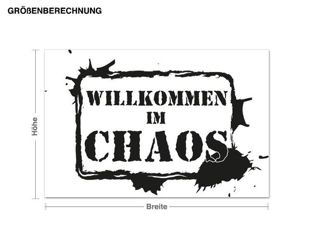 Wandtattoo ...im Chaos