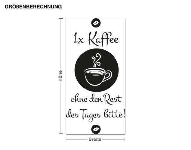 Wandtattoo 1x Kaffee