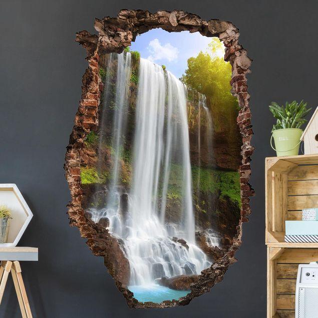 3D Wandtattoo - Waterfalls - Hoch 3:2