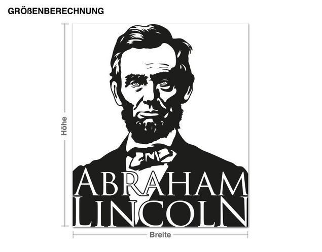 Wandtattoo Abraham Lincoln