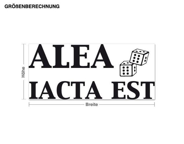 Wandtattoo Alea iacta est
