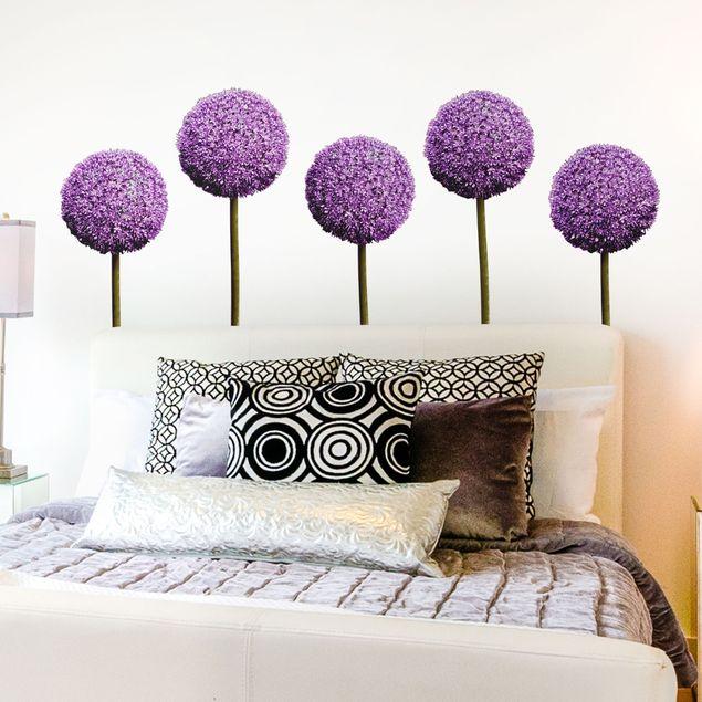 Wandtattoo Allium Kugel-Blüten 5er Set